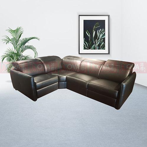 Hinton Full Leather Sofa Black