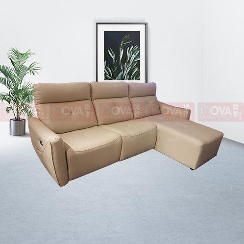 Tazmin Leather Sofa L-Shape Recliner