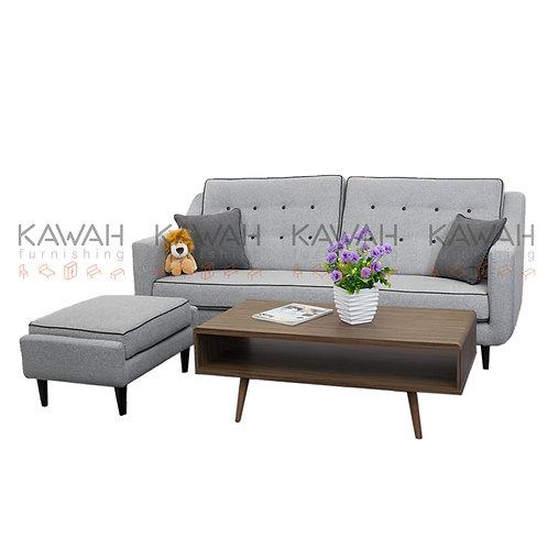 Franklin Belgium DetachableFabric Sofa L-Shape with Ottoman