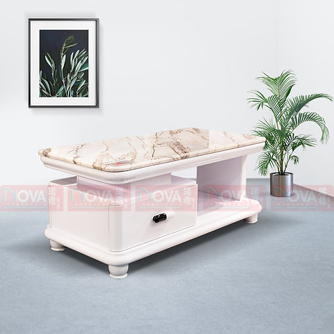 Yara Drawer Coffee Table Marble Top