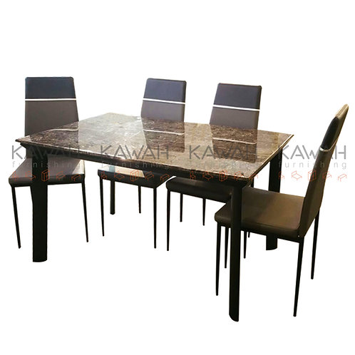 Juana Marble Top Dining Table Set