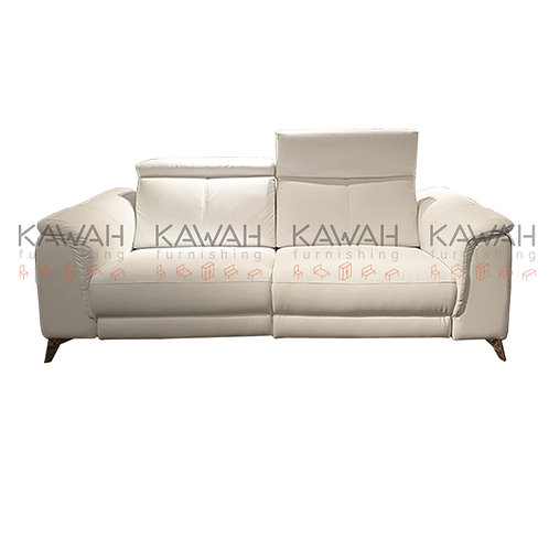 Roland Full Leather Sofa Recliner White