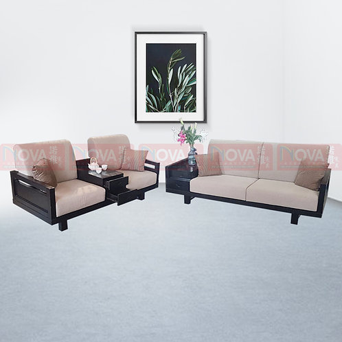 Bert Fabric Sofa with Wooden frame