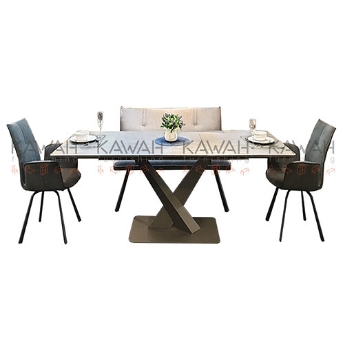 Cristiana Extendable Marble Top Dining Table Set