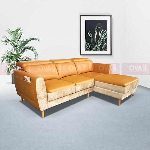 Dodd Half Leather Sofa L-Shape