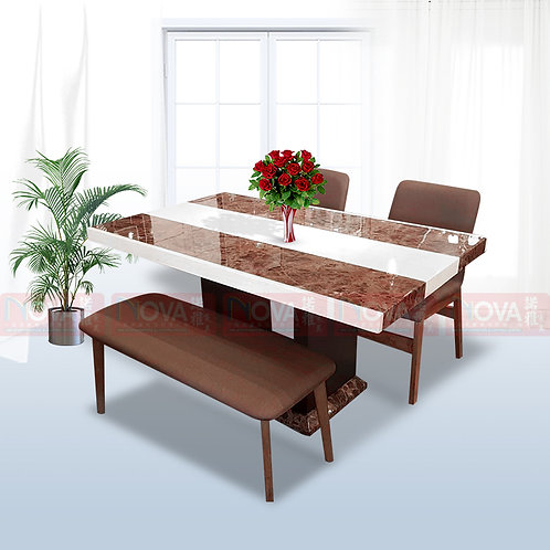 Momento Marble Top Dining Table