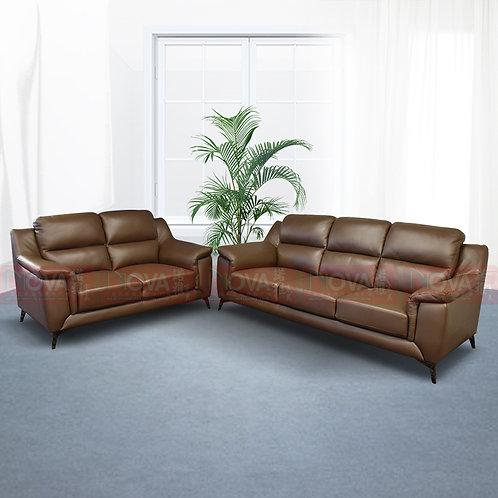 Francis Italian Full Leather Sofa
