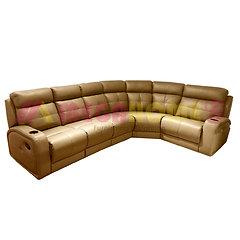 Full Leather Sofa Recliner Family Corner Type Mega Home