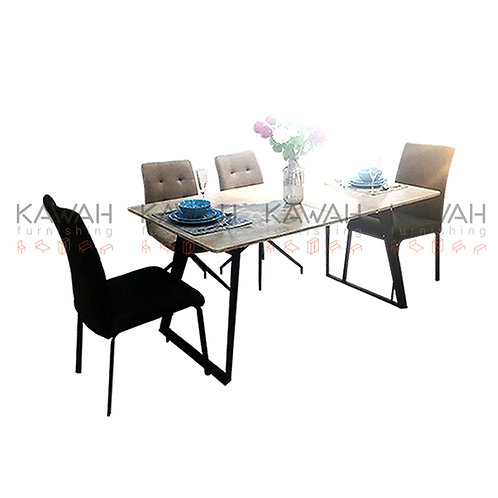 Fostella Extendable Dining Table Set