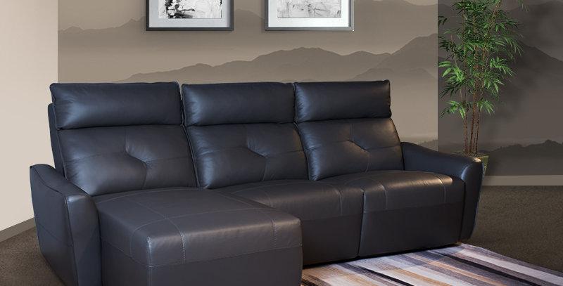 Mcgill Italian Full Leather Sofa Recliner