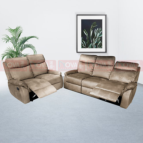 Larson Fabric Sofa 3+2 Recliner