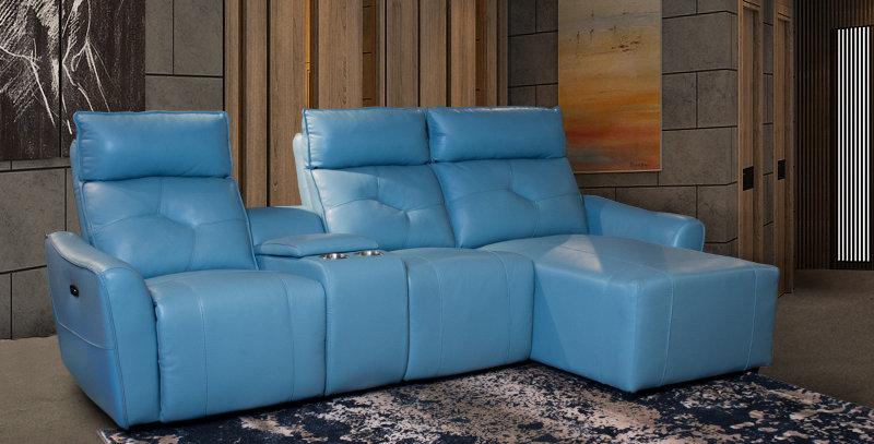 Cano Italian Full Leather Sofa Recliner
