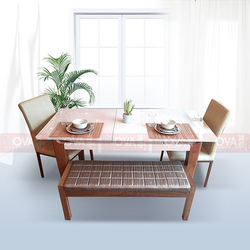 Melancholy Extendable Dining Table 1+4 Set​​​​​​​