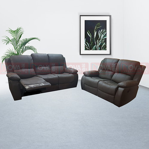 Marwa Leather Recliner 3+2-Sofa