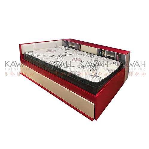 Zalka Children Bed with Pull Out Bed and Book Shelf