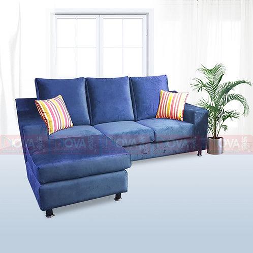Zappa Belgium Fabric Sofa Blue