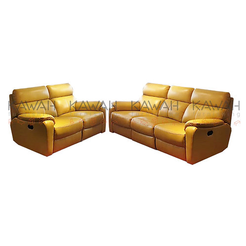 Bevan Italian Leather Sofa Recliner 3+2 Set