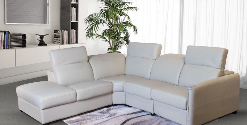 Cooley Full Leather Recliner SofaDimension