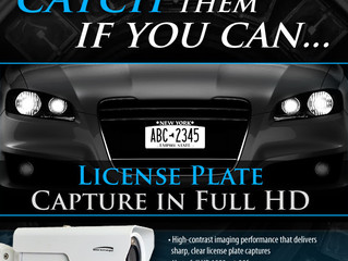 2MP IP License Plate Capture Camera for Speeds up to 60mph!