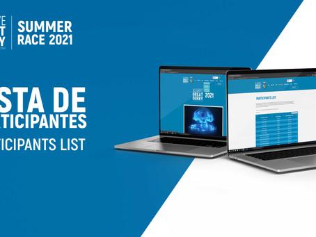 Lista de Participantes - Algarve Great Derby 2021
