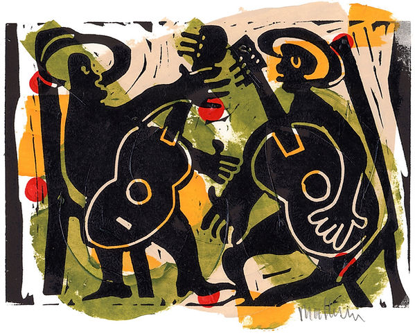 Singing the Blues I: Two Musicians by Gert Mathiesen