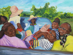 Gentlewomen, a painting by Barbara Masterson