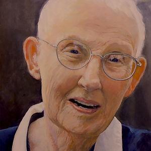 #7: JOKO (Charlotte Beck), American Zen Teacher, a painting by Siena Gillann Porta