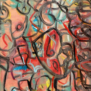 Tight Lipped, a painting by Osiris Munir
