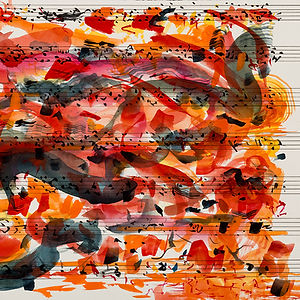 Getting Lost in the Music, a painting by Sheilah Rechtschaffer
