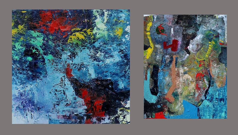 Post Partim & Laza, paintings by Osiri
