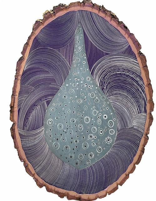 Single Drop of Water, a painting by Robyn Ellenbogen