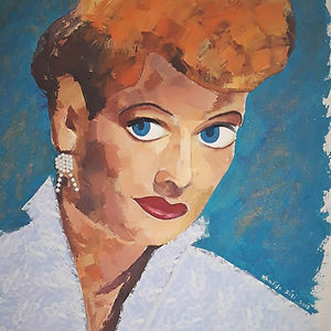 I Love Lucy, a painting by Khadija Zizi