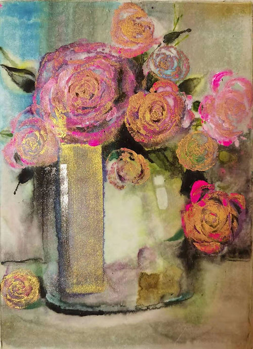 Rose, a painting by Mei Wang