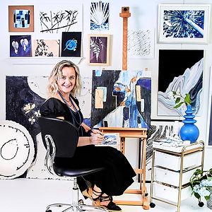 Zsuzsi Winn in her studio