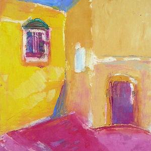 Yellow Wall Red Door by Ellen Pliskin