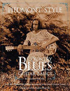 cover art for Valerie Turner's book Piedmont Style Country Blues Guitar Basics