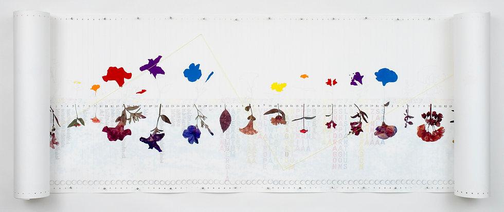 'August' Garden scroll by Linda Stillman