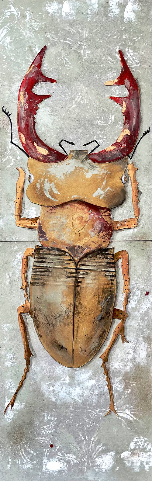 Winterbeetle, a collage by Bärbel Thiel