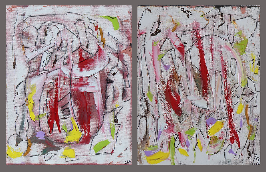 No Thinking Just Feeling, a painting by Osiris Munir