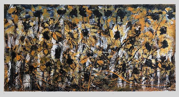 Sunflower Road X, a painting by Ilse Schreiber-Noll