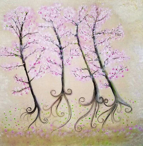 Cherry Blossoms, a painting by Aisla Islava