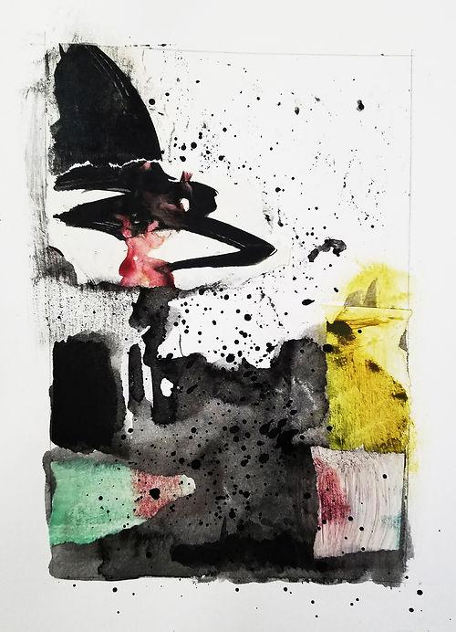 #1 Script, a collage by Leslie Hardie
