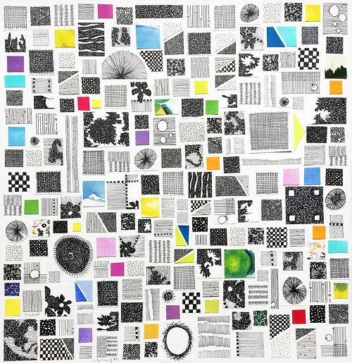 City Living #3, a collage by Jennifer Cadoff