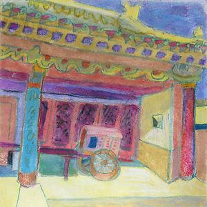 Wagon, a painting by Ellen Pliskin