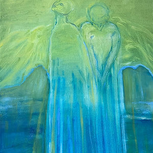 Angels Amongst Us (Duality), a painting by Harriet Forman Barrett