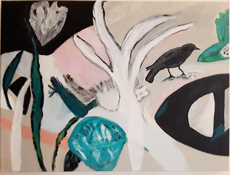 #30 Green Jewel, a painting by Inka Juslin