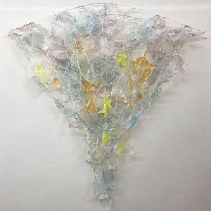 #22: Enfolding, a sculpture by Lisa K Rosenstein