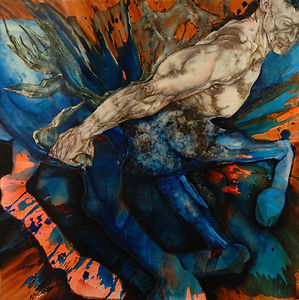 Blue Centaur World Wasting by Micheline Klagsbrun