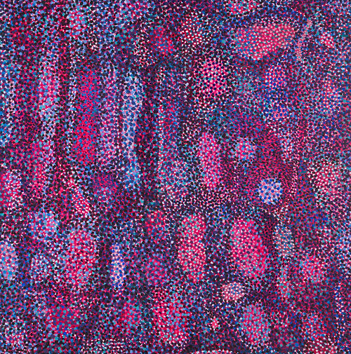 Cosmic Currency Series: Red Dotted Abstract, a painting by Jenna Lash
