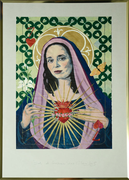Seven of Hearts or The Swords of Mary, a painting by Clara Joris